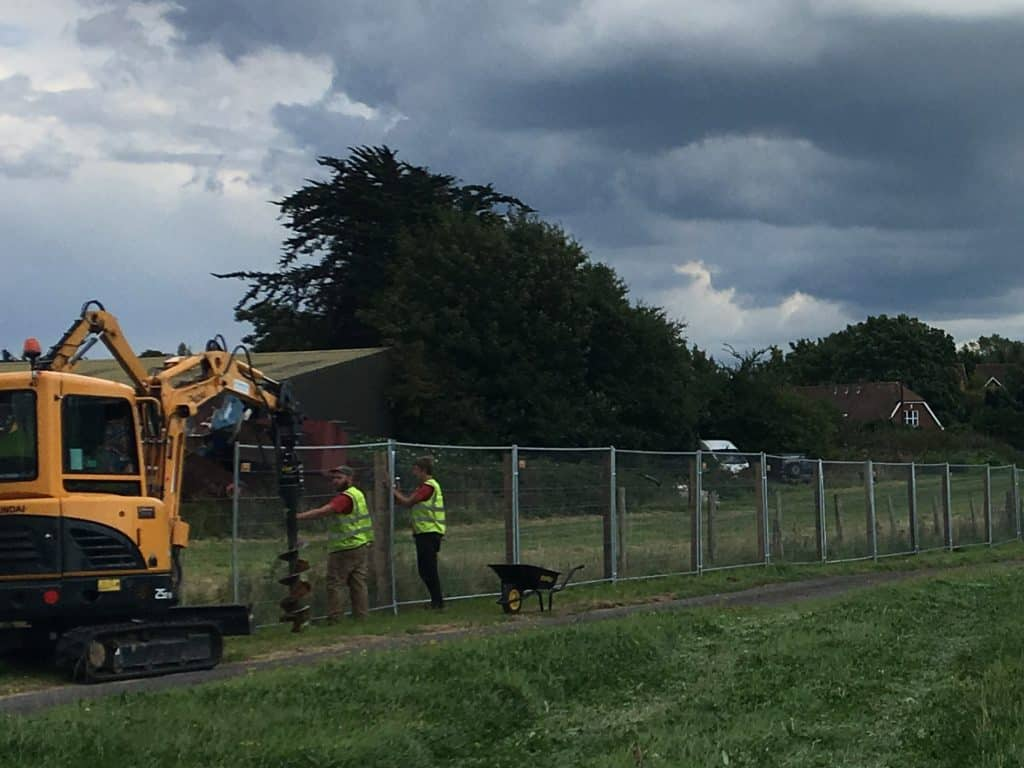 Installing Tree Protection Fencing to comply with BS5837
