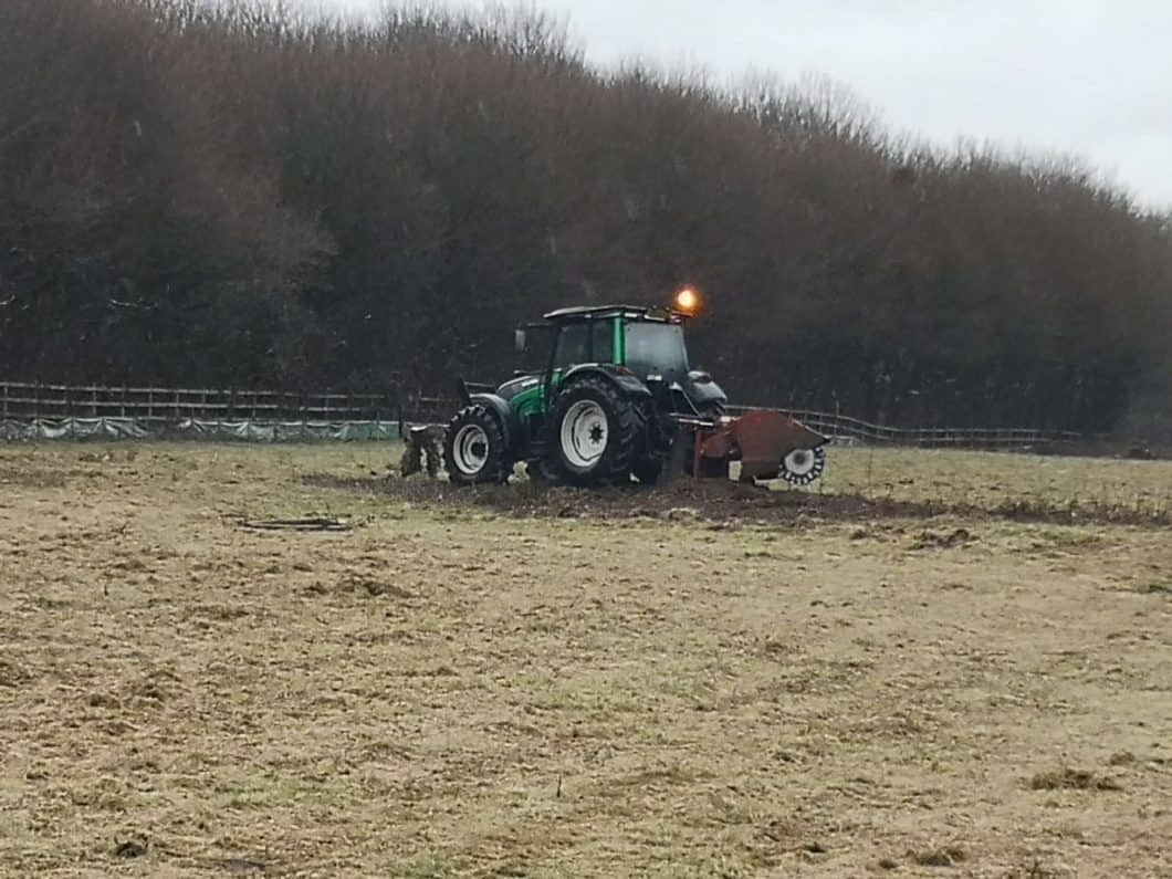 A PTO Mounted Stump Grinder in Action