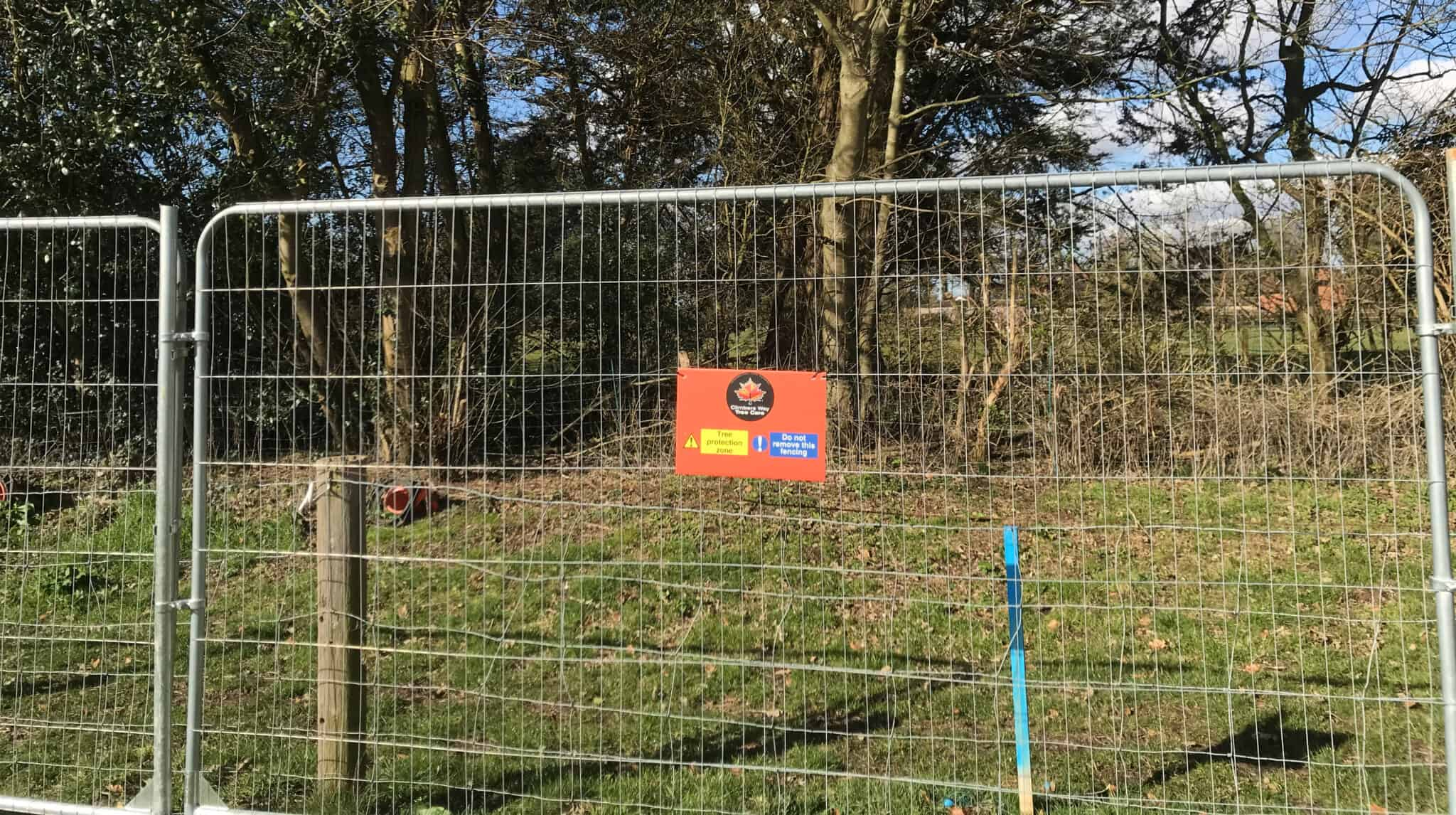 4 km of Tree Protection Fencing
